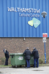 © Licensed to London News Pictures. 03/04/2018. London, UK. Police search for evidence outside Walthamstow Leisure Centre after a youngster was shot and another was stabbed. A few miles away in Tottenham police are investigating after a 17 year old girl was shot and killed late last night. Photo credit: Peter Macdiarmid/LNP