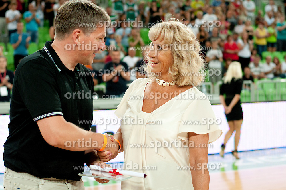 Biserka Petrovic during friendly basketball match between National teams of Slovenia and Croatia of Adecco Ex-Yu Cup 2012 as part of exhibition games 2012, on August 4, 2012, in Arena Stozice, Ljubljana, Slovenia. (Photo by Urban Urbanc / Sportida)