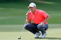 June 22, 2018 - Cromwell, CT, U.S. - CROMWELL, CT - JUNE 22: Jordan Spieth of the United States reads his putt on 15 during the Second Round of the Travelers Championship on June 22, 2018, at TPC River Highlands in Cromwell, Connecticut. (Photo by Fred Kfoury III/Icon Sportswire) (Credit Image: © Fred Kfoury Iii/Icon SMI via ZUMA Press)
