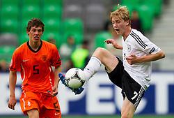 Joris Voest of Netherlands vs Julian Brandt of Germany during the UEFA European Under-17 Championship Final match between Germany and Netherlands on May 16, 2012 in SRC Stozice, Ljubljana, Slovenia. (Photo by Vid Ponikvar / Sportida.com)