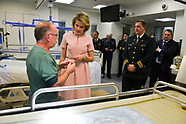 Queen Mathilde during the visit of the burn hospital