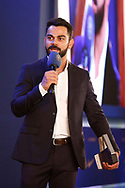 Virat Kohli Captain of India during the BCCI annual awards evening held at the Ritz Carlton Hotel in Bangalore, Karnartaka on the 8th March 2017. <br /> <br /> Photo by: Deepak Malik / BCCI/ SPORTZPICS