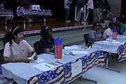 Attucks Middle School holds mock elections.<br />