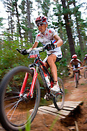 Oak Valley ( Elgin / Grabouw ), SOUTH AFRICA - Christoph Sauser rides through the single track at High Rising during stage six , 6 , of the Absa Cape Epic Mountain Bike Stage Race in Oak Valley ( Elgin / Grabouw ) on the 27 March 2009 in the Western Cape, South Africa..Photo by Karin Schermbrucker /SPORTZPICS