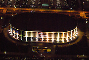 Aerial view of the Original Philadelphia's Spectrum at night just months before being imploded in 2012.