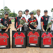 14 May 2016: The San Diego State Aztecs softball team took on Boise State to close out the regular season. The Aztecs beat the Broncos 6-3 on senior day and won the series 2-1. www.sdsuaztecphotos.com