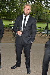 England Rugby captain CHRIS ROBSHAW at 'A Night of Champions' an evening to raise funds for the Mo Farah Foundation held at The Hurlingham Club, London on 28th August 2014.