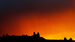 A Rainstorm & sunset work together for a magnificient sunset in Cappadocia, Turkey