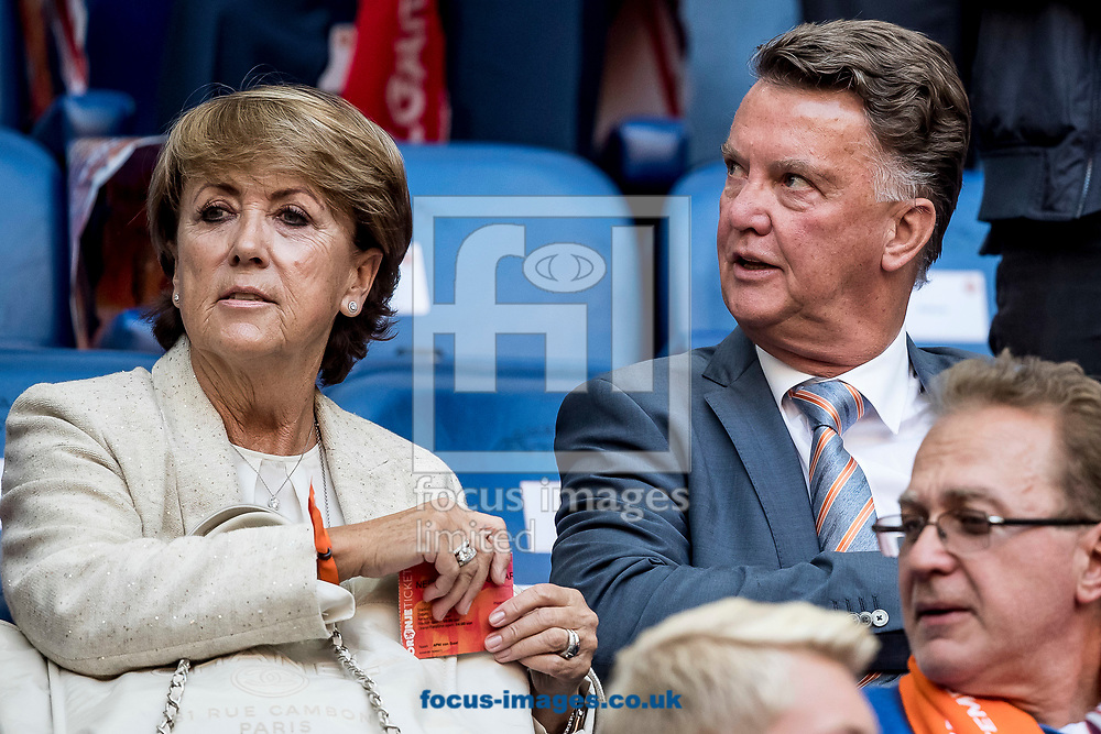 Louis van Gaal (R) and his wife Truus (L) before the 2018 FIFA World Cup Qualifying match at Amsterdam Arena, Amsterdam<br /> Picture by Joep Joseph Leenen/Focus Images Ltd +316 5261929<br /> 03/09/2017<br /> ***NETHERLANDS OUT***
