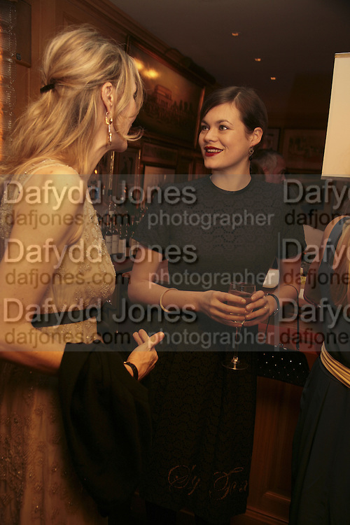 Allegra Hicks and Jasmine Guinness, Charles Finch and Chanel 7th Anniversary Pre-Bafta party to celebratew A Great Year of Film and Fashiont at Annabel's. Berkeley Sq. London W1. 10 February 2007. -DO NOT ARCHIVE-© Copyright Photograph by Dafydd Jones. 248 Clapham Rd. London SW9 0PZ. Tel 0207 820 0771. www.dafjones.com.