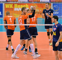 31-05-2015 NED: CEV EK Kwalificatie Nederland - Spanje, Doetinchem<br /> Nederland wint met 3-1 van Spanje en plaatst zich voor het EK in Bulgarije en Italie / Kay van Dijk #12