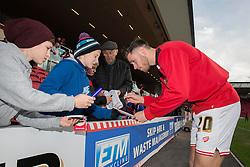 Wes Burns of Bristol City signs autographs - Mandatory byline: Dougie Allward/JMP - 05/12/2015 - Football - Ashton Gate - Bristol, England - Bristol City v Blackburn Rovers - Sky Bet Championship