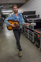 Jonathan Russell of The Head and The Heart backstage at We Day 2015, Seattle, Washington. Free the Chldren event which inspires youth activism and volunteering.