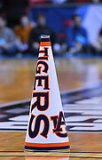 SAN DIEGO, CA - MARCH 16:  An Auburn Tigers cheerleader's megaphone is shown during a first round game of the Men's NCAA Basketball Tournament against the Charleston Cougars at Viejas Arena in San Diego, California. Auburn won 62-58.  (Photo by Sam Wasson)