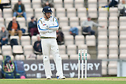 Yorkshire wicket keeper Jonny Bairstow during the Specsavers County Champ Div 1 match between Hampshire County Cricket Club and Yorkshire County Cricket Club at the Ageas Bowl, Southampton, United Kingdom on 21 April 2017. Photo by Graham Hunt.