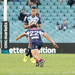 Israel Folau of the Waratahs during the super rugby match between Waratahs and the Rebels Allianz Stadium 21 May 2017(Photo by Mario Facchini -Steve Haag Sports)