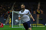 Preston North End Defender Marnick Vermijl scores to make it 1-1 during the Sky Bet Championship match between Preston North End and Fulham at Deepdale, Preston, England on 5 April 2016. Photo by Pete Burns.