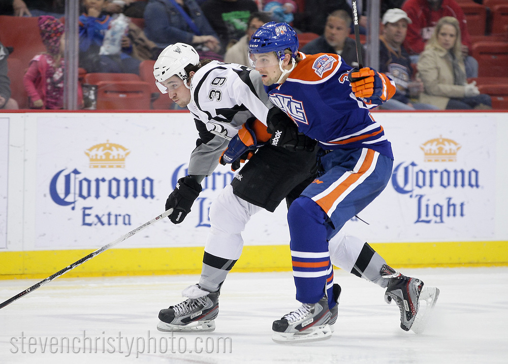 January 18, 2013: The Oklahoma City Barons play the San Antonio Rampage in an American Hockey League game at the Cox Convention Center in Oklahoma City.