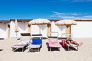 Daily life at the San Francesco beach in Bari on 5 August 2019. Christian Mantuano / OneShot