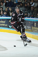 KELOWNA, CANADA - FEBRUARY 18: Alex Petrovic #7 of the Red Deer Rebels skates on the ice as the Red Deer Rebels visit the Kelowna Rockets on February 18, 2012 at Prospera Place in Kelowna, British Columbia, Canada (Photo by Marissa Baecker/Shoot the Breeze) *** Local Caption ***