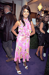 KONNIE HUQ at The Ralph Lauren Sony Ericsson WTA Tour Pre-Wimbledon Party hosted by Richard Branson at The Roof Gardens on June 18, 2009