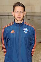 Martin POBEL - 26.09.2015 - Photo officielle Bourg en Bresse Peronnas - Ligue 2<br /> Photo : Jean Paul Thomas / Icon Sport