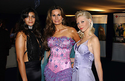 Left to right, MISS SOPHIE KRISTENSEN , her mother designer ISABELL KRISTENSEN and model CHARLOTTE DUTTON at the British Red Cross London Ball held at The Room by The River, 99 Upper Ground, London SE1 on 16th November 2006.<br />