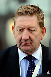 © Licensed to London News Pictures. 29/02/12. LONDON, UK. Len McCluskey has said unions should consider disrupting the London Olympics as part of their campaign against Government cuts. FILE PICTURE: Len McCluskey. The Labour Party Conference in Liverpool today (27/09/11). Photo credit:  Stephen Simpson/LNP