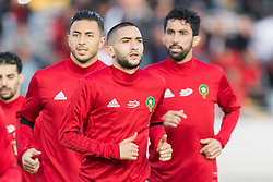 Hakim Ziyech of Morocco during the warming up during the international friendly match between Morocco and Uzbekistan at the Stade Mohammed V on March 27, 2018 in Casablanca, Morocco