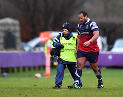 Sione Faletau of Bristol Bears United leaves the field with an injury - Mandatory by-line: Paul Knight/JMP - 02/12/2018 - RUGBY - Clifton RFC - Bristol, England - Bristol Bears United v Harlequins - Premiership Rugby Shield