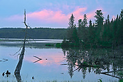 Evening light on Lac Forbes<br />Parc National du Mont Tremblant <br />Quebec<br />Canada