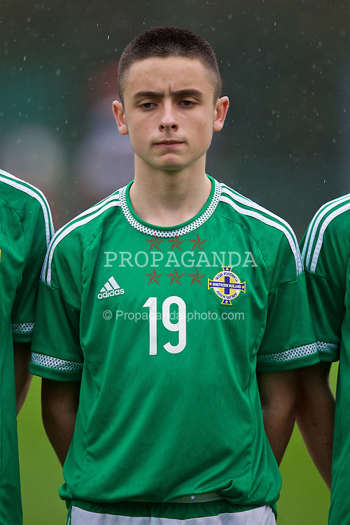 NEWPORT, WALES - Thursday, November 5, 2015: Northern Ireland's Ethan Warnock before the Under-16's Victory Shield International match against Wales at Dragon Park. (Pic by David Rawcliffe/Propaganda)