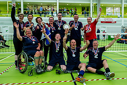 28-04-2018 NED: NK Zitvolleybal, Koog aan de Zaan<br /> BVC Holyoke wint de finale van het NK zitvolleybal met 3-1 van V.a.s. F.D.S uit Sneek. / Feest bij Sneek