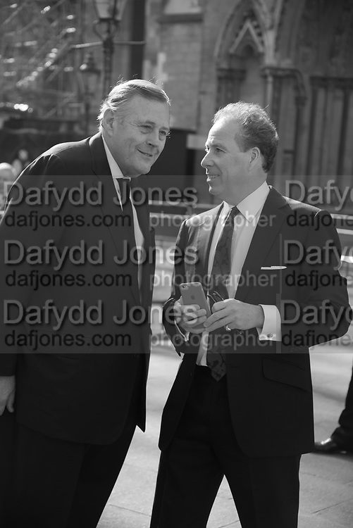 DAVID KER; THE EARL OF SNOWDON, Service of thanksgiving for  Lord Snowdon, St. Margaret's Westminster. London. 7 April 2017