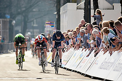 Mieke Kröger (GER) sprints to second place ahead of Christine Majerus (LUX) at Healthy Ageing Tour 2018 - Stage 5, a 94.3 km road race in Groningen on April 8, 2018. Photo by Sean Robinson/Velofocus.com