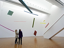 modern art by Joel Shapiro on display at Museum Ludwig in Cologne Germany