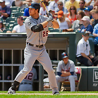 Chicago, IL - June 05, 2011:  Brennan Boesch (26) hits against the home team Chicago White Sox at U.S. Cellular Field on June 5, 2011 in Chicago, IL.