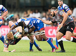 DURBAN, SOUTH AFRICA - APRIL 21: Philip Van Der Walt of the Cell C Sharks during the Super Rugby match between Cell C Sharks and DHL Stormers at Jonsson Kings Park on April 21, 2018 in Durban, South Africa. Picture Leon Lestrade/African News Agency/ANA