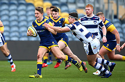 Louis Jackson (KES Stratford) of Worcester Warriors Under 18s - Mandatory by-line: Robbie Stephenson/JMP - 14/01/2018 - RUGBY - Sixways Stadium - Worcester, England - Worcester Warriors Under 18s v Yorkshire Carnegie Under 18s - Premiership Rugby U18 Academy