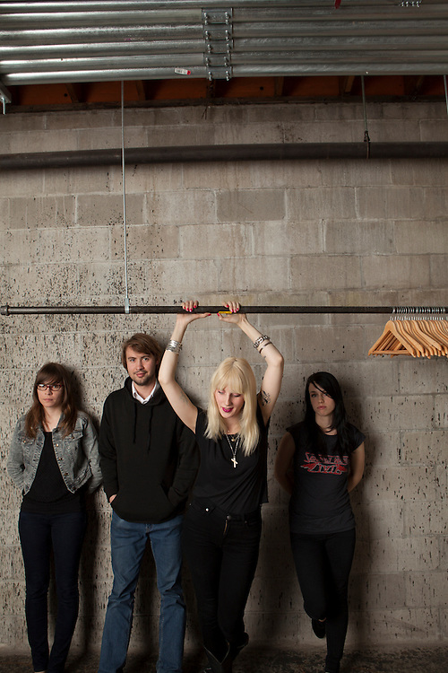 """20 June 2012- """"White Lung"""" is photographed at minorwhite studios for Alternative Press."""