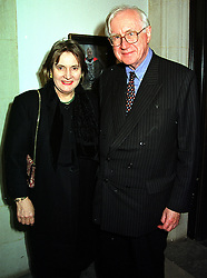LORD & LADY REES-MOGG at a reception in London on 18th October 1999.<br /> MXX 46