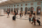The concourse of Santa Apolónia Station, the oldest railway terminus in Portugal, Lisbon.