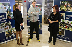 Ziva Vadnov Brancelj, Uros Zorman and Vlasta Nussdorfer  at photo exhibition of Handball academy of U. Zorman 2012 and charity event of organisation Beli obroc and company Studio Moderna, on December 27, 2012 in Ljubljana, Slovenia. (Photo By Vid Ponikvar / Sportida.com)