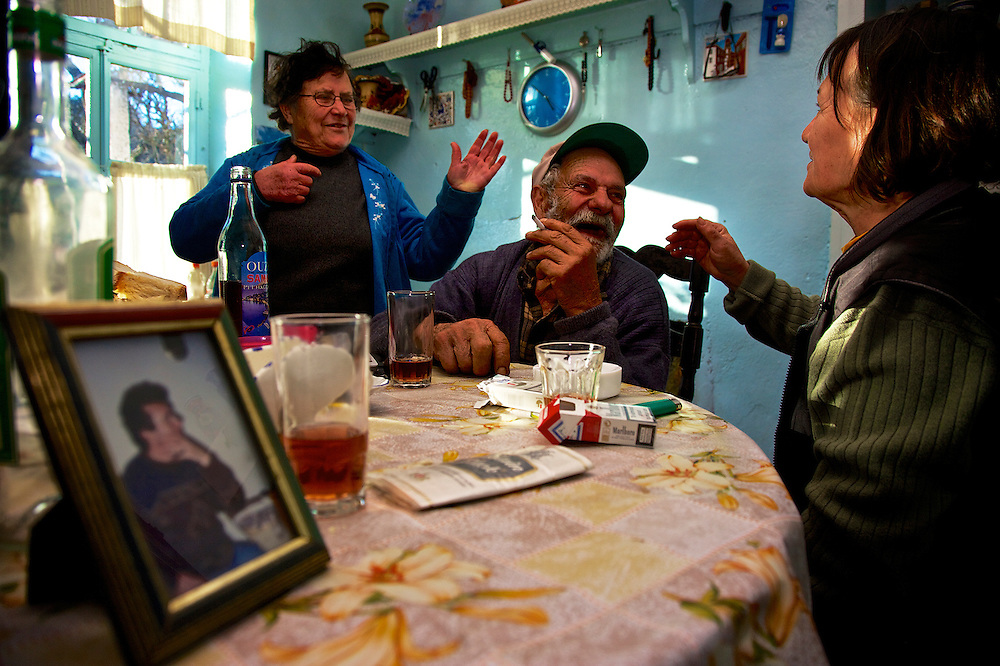 Close family ties contribute to longevity: a man and his sisters in Ikaria, Greece