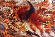 Umberto Boccioni (1882 – 1916)Italian painter and sculptor. The City Rises (La città che sale) (1910)
