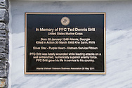 AVVBA Memorial for Army PFC Ted Britt at Georgia Veterans Memorial Park, Conyers, GA on May 26, 2011