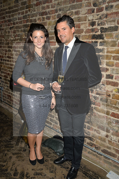 SHIRLEY LEIGH WOOD-OAKES and EDWARD TAYLOR at a party to celebrate the engagement of Natalie Coyle and Zafar Rushdie held at Library, St.Martin's Lane, London on 6th September 2014.