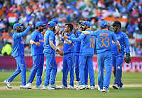 Cricket - 2019 ICC Cricket World Cup - Group Stage: Bangladesh vs. India<br /> <br /> India's Yuzvendra Chahal celebrates taking the wicket of Bangladesh's Mushfiqur Rahim caught by India's Mohammed Shami for 24, at Edgbaston<br /> <br /> COLORSPORT/ASHLEY WESTERN