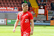 Crawley Town midfielder Dannie Bulman (21) warms up before kick off during the EFL Sky Bet League 2 match between Crawley Town and Carlisle United at the Checkatrade.com Stadium, Crawley, England on 30 September 2017. Photo by Andy Walter.