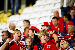 October 5, 2017 - San Marino, SAN MARINO - 171005 Fans of Norway at the stands ahead of the FIFA World Cup Qualifier match between San Marino and Norway on October 5, 2017 in San Marino. .Photo: Fredrik Varfjell / BILDBYRÃ…N / kod FV / 150027 (Credit Image: © Fredrik Varfjell/Bildbyran via ZUMA Wire)
